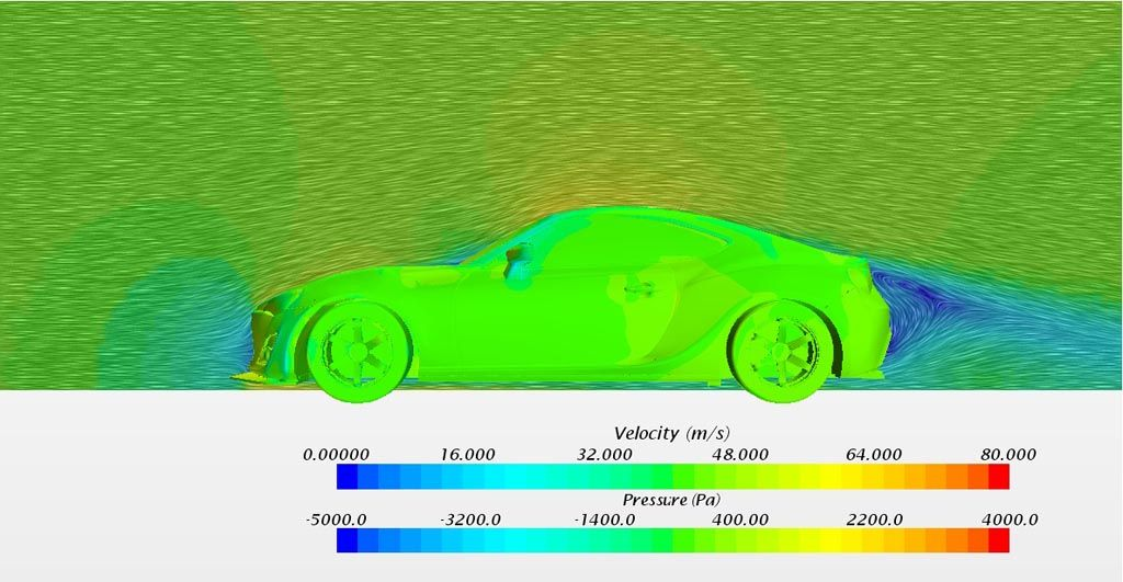 Verus Engineering FRS/BRZ Rear Diffuser CFD Vector Plot