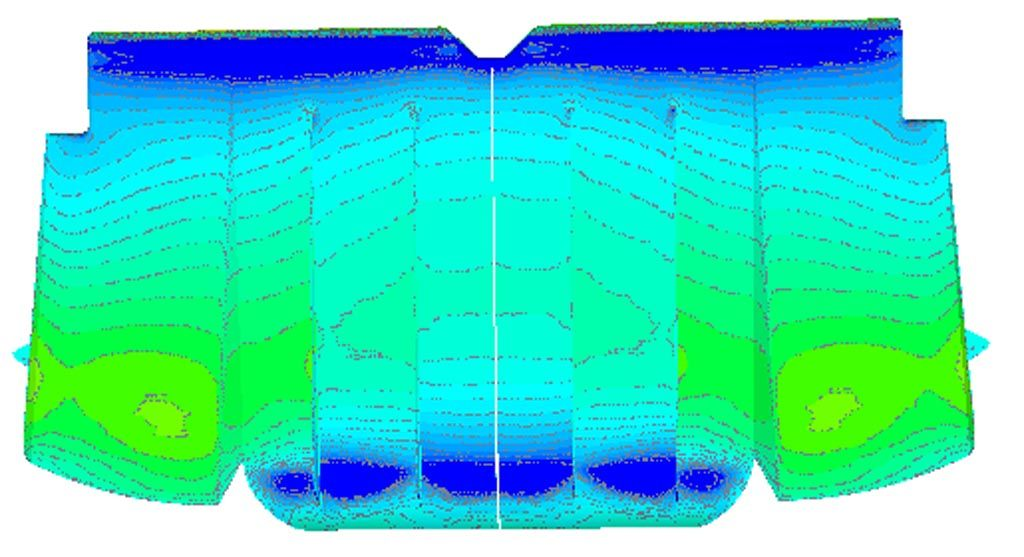 Verus Engineering Subaru WRX/STI Rear Diffuser CFD Pressure Plot