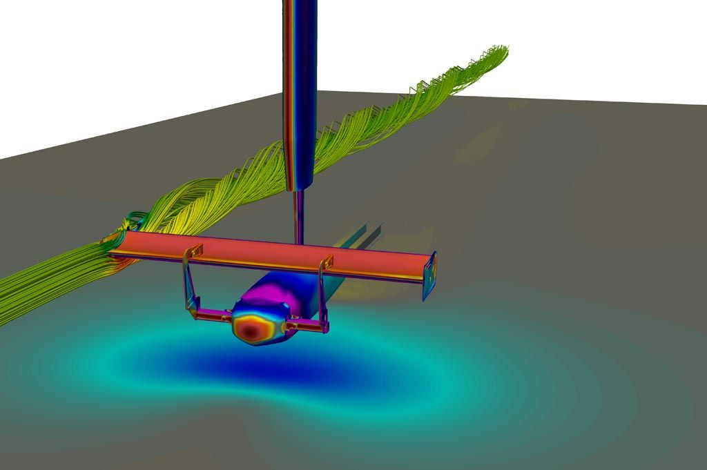 Verus Engineering V1X Rear Wing in CFD Wind Tunnel
